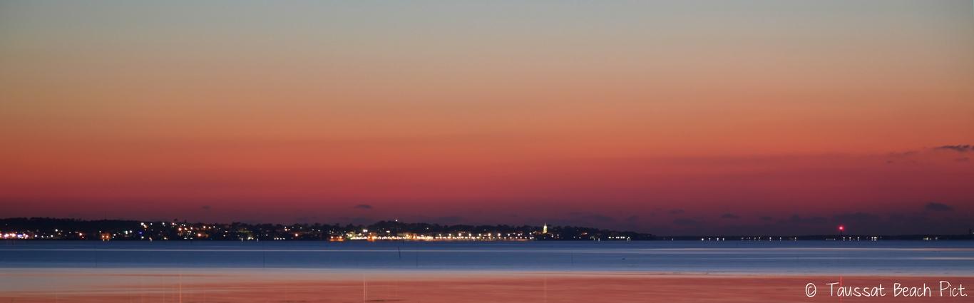 Coucher de soleil bassin d'arcachon phare cap ferret taussat beach