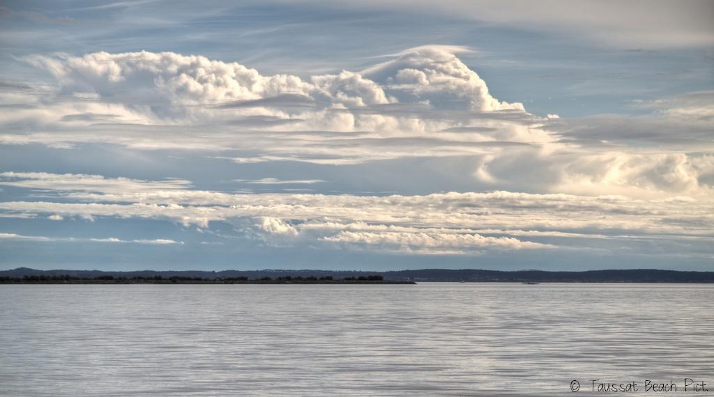ciel chargé cumulus, nuages bassin d'arcachon
