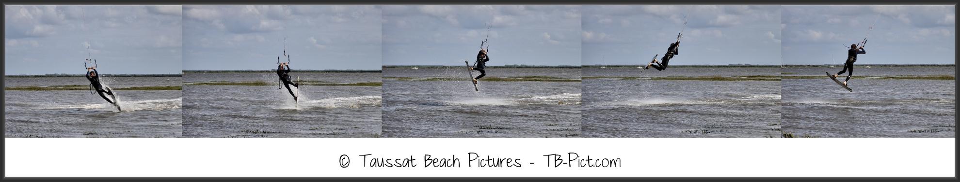 kitesurf back roll back loop rafale séquence saut jump transition