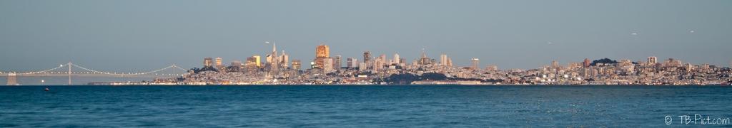 San Francisco s'allume coucher de soleil lumière nuit