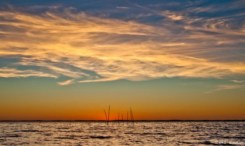 coucher de soleil mer, coucher de soleil bassin d'arcachon, taussat beach