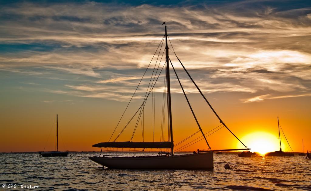 lacaze esprit de l'argo coucher de soleil bassin d'arcachon