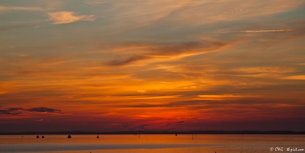 coucher de soleil bassin d'arcachon