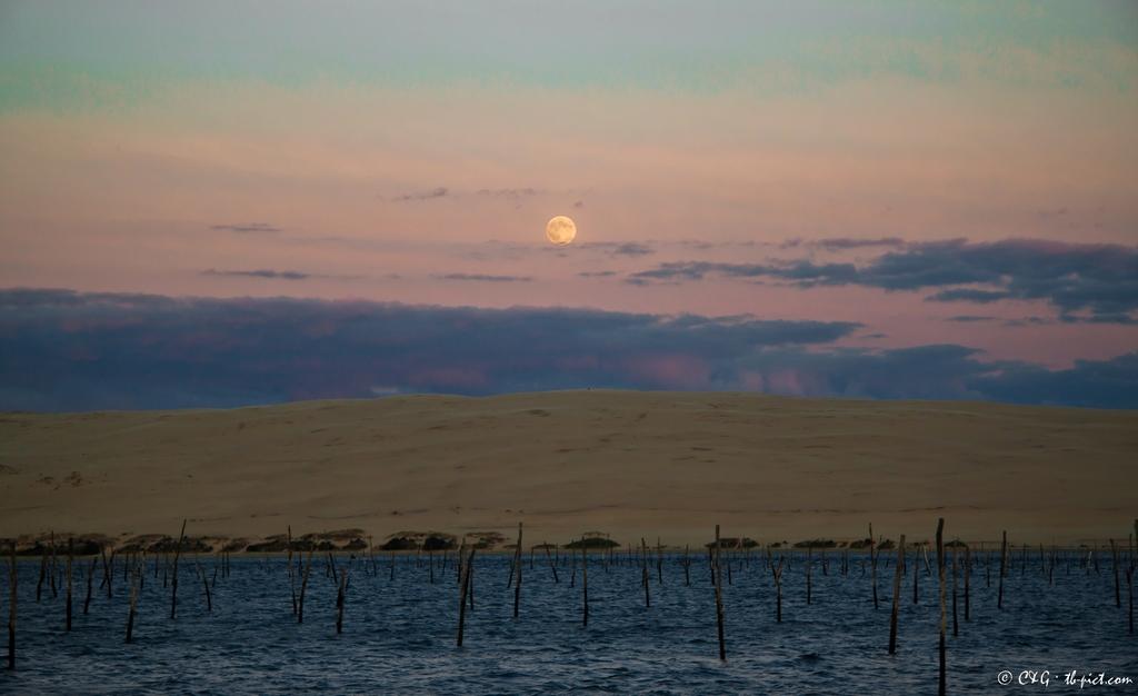 Lever de Lune sur la Dune du Pyla
