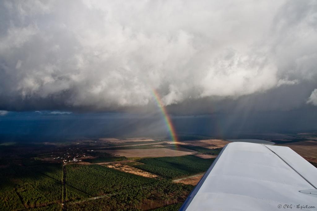 rainbow from sky