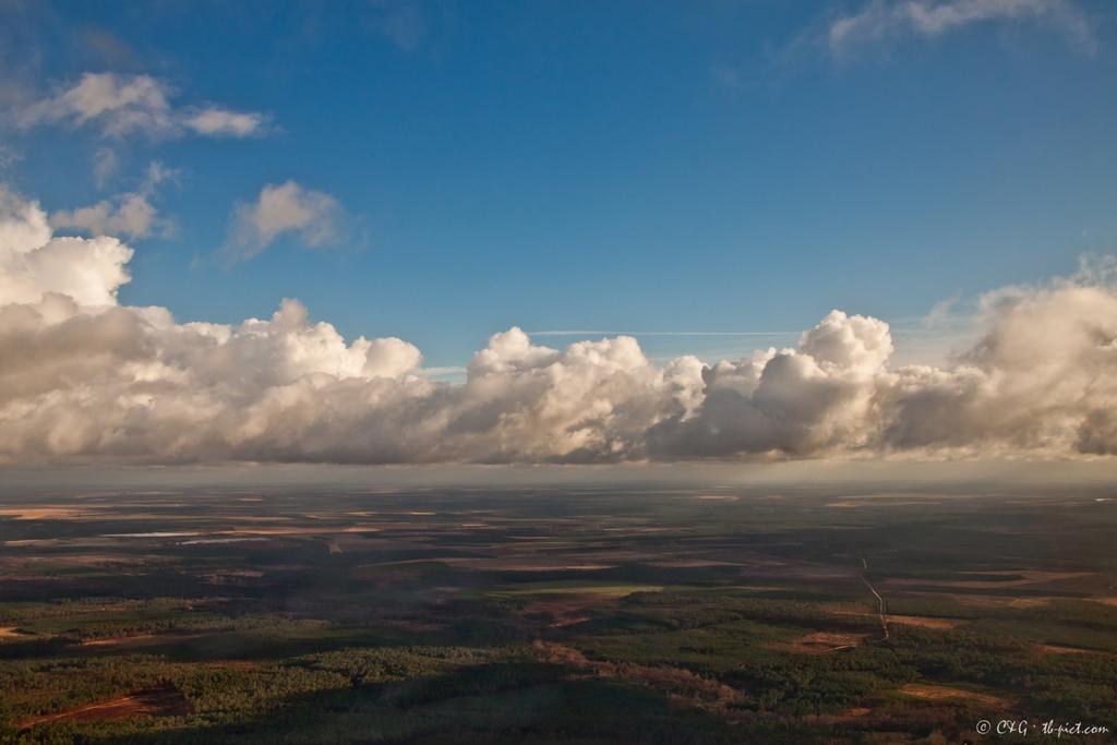 Les Landes vues du ciel