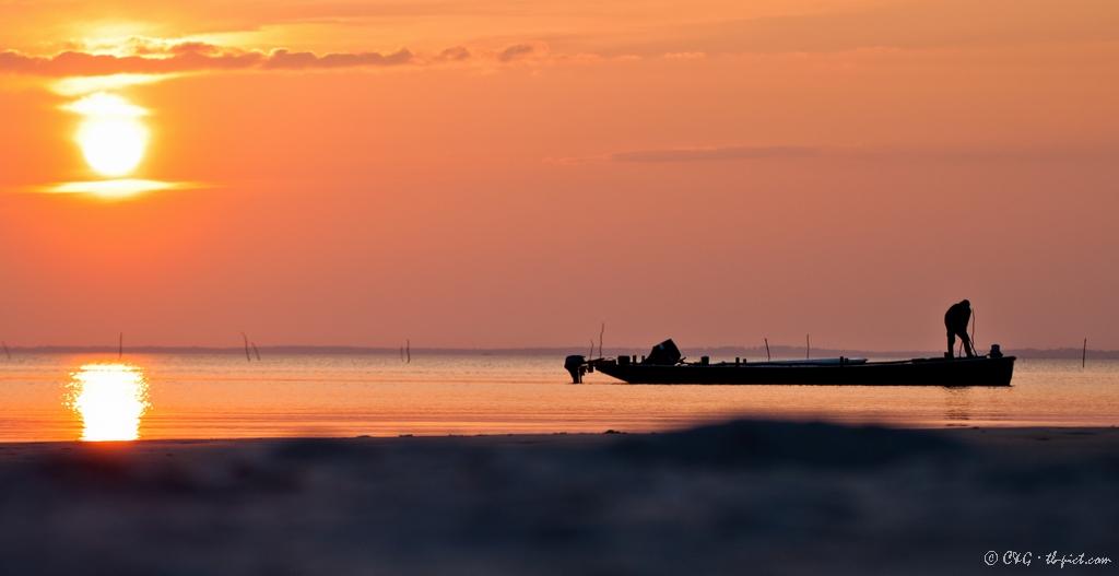 coucher de soleil bassin arcachon