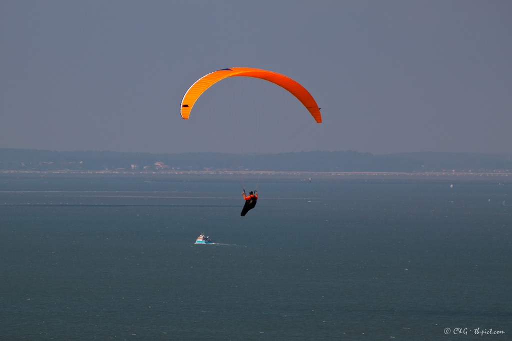 paragliding alone bassin d'arcachon