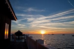 Lever de Soleil sur la cabane tchanquée